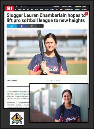 Kit Mohr Sports Illustrated photos of NFP player Lauren Chamberlain