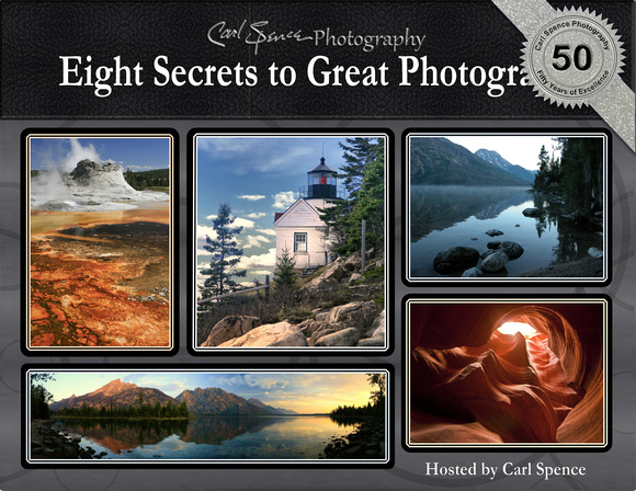Book Cover Eight Secrets to Great Photographs by Carl Spence